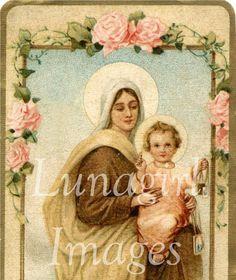vintage images, ephemera, christians, favors, christian art, art jesus, holi card, cards, flower