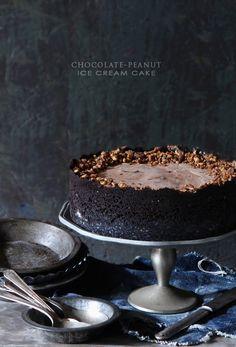 Chocolate Peanut Ice Cream Cake
