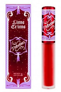 This Red Velvet lip color from the Velvetine's from Limecrime...makes your lips look like, velvet red rose petals!
