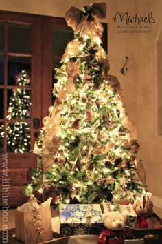 Rustic Christmas Tree by @Ashley Hackshaw #JustAddMichaels