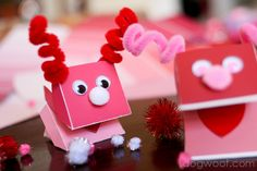One Dog Woof: Paint Chip Monster Puppet for Valentine's Day