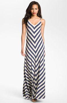 Max & Mia Chevron Stripe Maxi Dress | Nordstrom