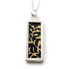 Washi Paper Necklace-Small Bar $52.00