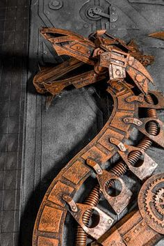 The Odd Blogg: Lance Oscarson's Cardboard Steampunk Sculptures are Amazing