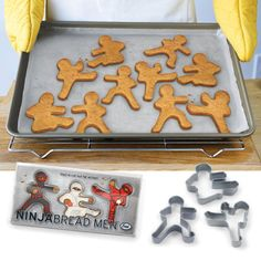 Ninjabread Men Cookie Cutters--My boys would go crazy over these!