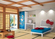 Dormitorio Hello Kitty Oriental - Bedroom Hello Kitty Oriental
