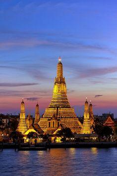 Dusk at Wat Arun, Bangkok,  Thailand