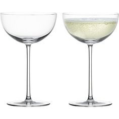 Camille Champagne Coupe Glass in Champagne Flutes | Crate and Barrel