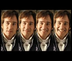 One of his few smiles in the whole movie - and by far the most adorable. Matthew MacFadyen in Jane Austen's Pride and Prejudice.