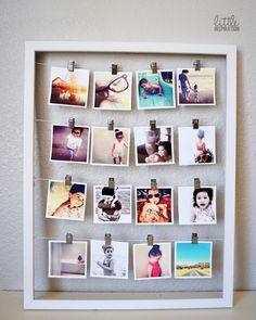 DIY Instagram photo frame.