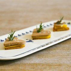Cœurs en pain d'épices au foie gras et à la mangue