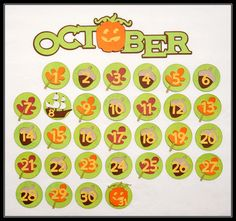 Create a fun, colorful October Calendar bulletin board using the new Cricut Craft Room Exclusives Classroom-October  November images!  This project was crated by Jana Eubank! #Cricut