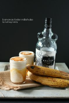 Bananas Foster Milkshake by Nutmeg Nanny yummi idea, banana foster, drink, bananas foster recipes, smoothi, foster milkshak, beverag, sweet yummi, milkshakes