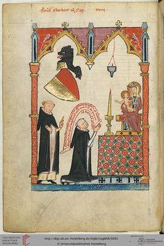Codex Manesse, Bruder Eberhard von Sax, Fol 48v, c. 1304-1340