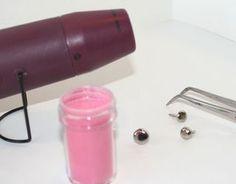 make your own colored glitter brads - heat brad, dip in embossing powder, etc - bjl