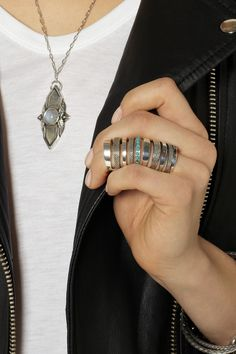 Pamela Love | Silver turquoise cage ring | NET-A-PORTER.COM