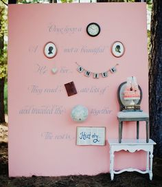 storybook wedding, party backdrops, idea, girl birthday, girls birthday parties, read books, photo booths, floral designs, vintage decorations