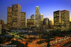 Downtown Los Angeles at Twilight