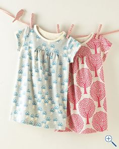 Very cute organic cotton shift dress for little kids. Posting as an idea for a shower... Have each guest bring a clothing item to pin up!
