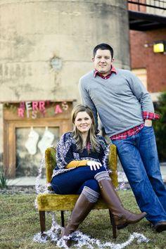 Christmas photo; couple