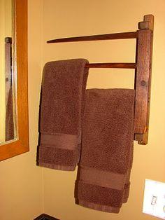 Pieced Pastimes: Primitive DIY Towel Rack