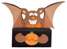 Caja de murciélago para Halloween