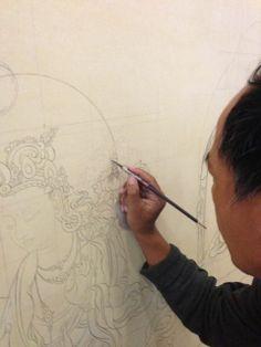 Tashi Dhargyal, a classically trained Thangka Master has opened a Tibetan gallery/studio right here in my home town of Sebastopol! Tashi has...  #Tibetan #Thangka