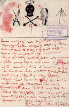 Jack the Ripper letter, Oct 1888