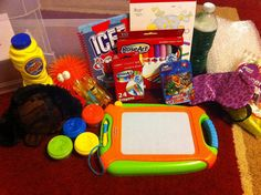 "ANGER BOX: Stress balls, Play dough, Bubbles, Paper markers & crayons, Stuffed animal for cuddling, hugging, or talking to, Eye mask, Bubble Wrap, A ""mind jar"" (link on how to make one), A book or two, CD of soothing nature sounds cd player & headphones, Lavender scented lotion, Peppermints, A small puzzle"