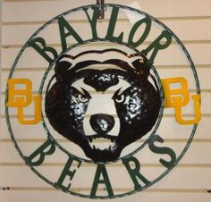 "18"" #Baylor Bears Metal Wall Art. Also available at Spice Village."