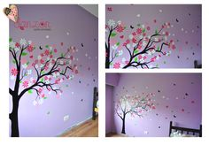 Vinilos juveniles on pinterest playrooms trees and heart for Vinilos juveniles nina