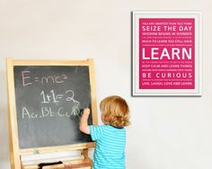 LEARN Inspiration Typography Print