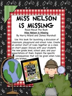 Free Sample: 6 pages from my Miss Nelson Is Missing Back-To-School Packet {Based On Common Core Standards}