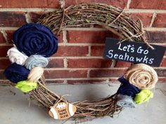 Seattle Seahawks Super Bowl Wreath by VineandWineBoutique on Etsy, $40.00