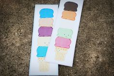 Like this free printable bookmark! It comes in two stacks of flavors. And I promise, it won't melt on your pages...