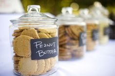 Cookie Buffet--each guest picks their own and gets to take home a goodie bag of cookies.
