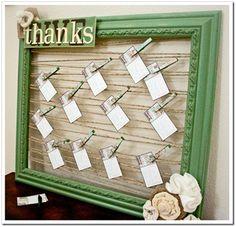 Thankfulness board to encourage being grateful.