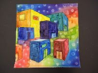 Mini Matisse: Two-Point Perspective Buildings