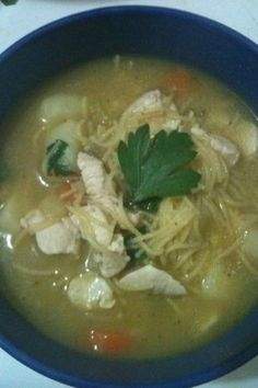 Low gi chicken noodle soup