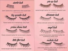 A guide to false lashes!