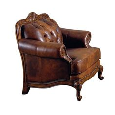 Valencia Leather Arm Chair.