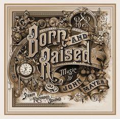 """Born and Raised"" Album Cover Design by David A. Smith"