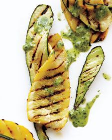 Zucchini is simply an elongated, cylindrical, usually green variety of summer squash. Summer squash are in season during the summer, peaking at the end.