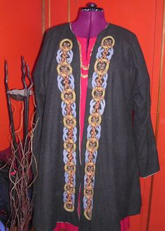 Coat with Mammen style embroidery.