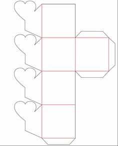 caja-flor-molde.jpg (577×712)