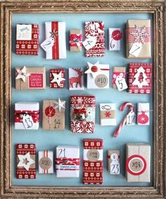 Handmade Advent Calendar...awesome design, now I just need to figure out what to put in each day