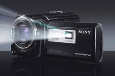 Sony camcorder with projector