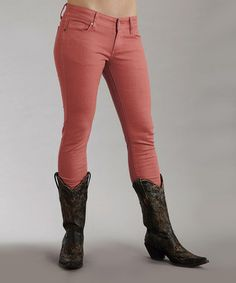 Look what I found on #zulily! Coral Stretch Pixie-Fit Skinny Jeans - Women #zulilyfinds