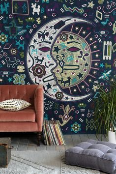 Urban Outfitters - Magical Thinking Mystic Folk Tapestry on Wanelo