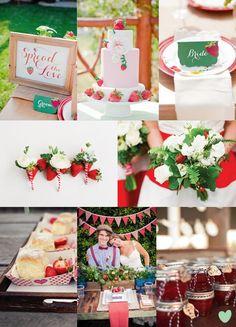 Strawberry Fields Wedding Styling Mood Board from The Wedding Community